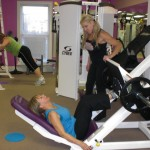 Working out at Fitness Diva 017